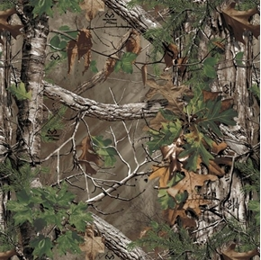 Real Tree Camouflage RealTree Extra Green Camo Cotton Fabric