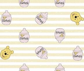 Disney Pooh Nursery Winnie the Pooh Honey Jars Cotton Fabric