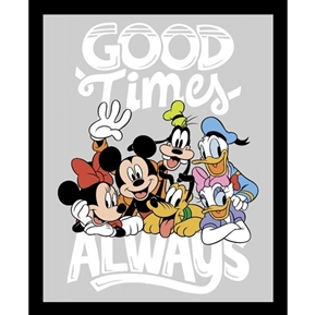 Disney Mickey and Minnie True Friends Good Times Cotton Fabric Panel
