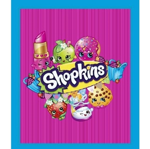 Shopkins Toys Once You Shop You Can't Stop Large Cotton Fabric Panel