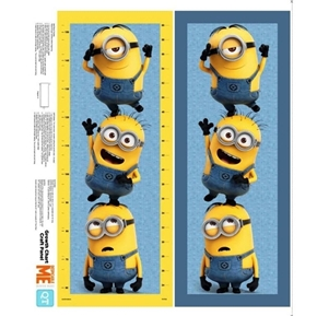Millions of Minions Minion Growth Chart Cotton Fabric Craft Panel