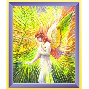 Artworks XI Angel of Patience Large Digital Cotton Fabric Panel