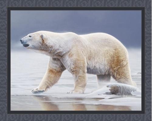 Arctic Icon Polar Bear Daniel Smith Digital Fabric Panel