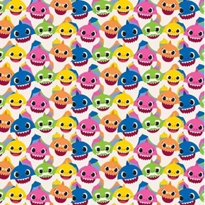 Baby Shark Family Packed Brooklyn William Nickelodeon Cotton Fabric