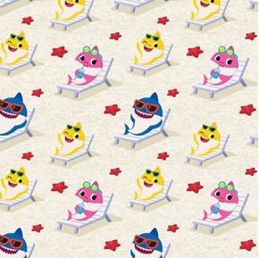 Baby Shark Starfish Beach Brooklyn Mommy Daddy Nickelodeon Cotton Fabric