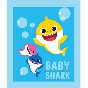 Baby Shark Family Nickelodeon TV Series Large Cotton Fabric Panel