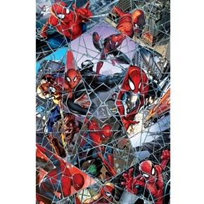 Marvel Spiderman Digital Comic Web Mosaic Superhero Cotton Fabric
