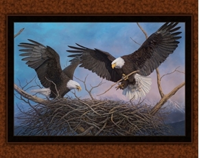 Power and Promise Bald Eagles Nesting Shane Lamb Digital Fabric Panel