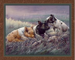 Three Little Pigs Pig Family Farm Wanda Mumm Digital Fabric Panel