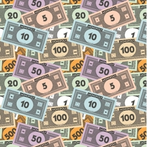 Monopoly Money Stack Monopoly Game Play Money Hasbro Cotton Fabric