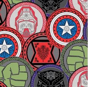 Marvel Avengers Marvel Coins Superhero Emblem Coin Cotton Fabric