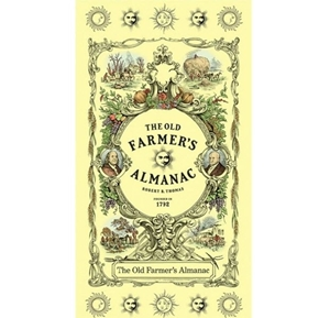 Old Farmers Almanac 1792 Gardening Calendar 24x44 Cotton Fabric Panel