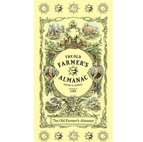 Old Farmers Almanac 1792 Gardening Calendar 24x44 Cotton Fabric Panel