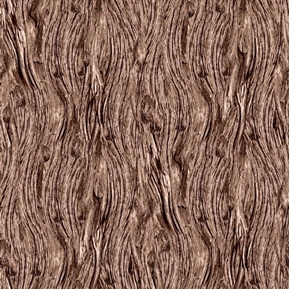Open Air Driftwood Weathered Brown Wood Cotton Fabric
