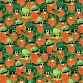 Lucky Guy Packed Leprechauns St Patricks Day Cotton Fabric
