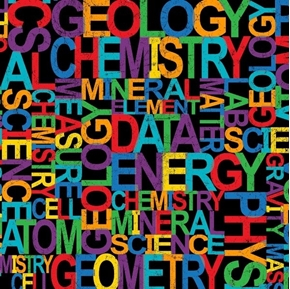 It's Elementary Science Terms Energy Data Chemistry Cotton Fabric