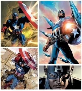 Marvel Avengers Captain America Superhero Digital Cotton Fabric