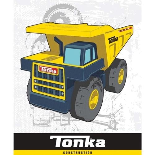 Tonka Truck Dump Truck Construction Toy Large Cotton Fabric Panel