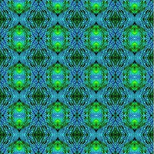 Color Me Chameleon Skin Chameleons Pattern Blue Green Cotton Fabric