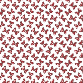 Disney Minnie Mouse Dreaming in Dots Dot Couture Bows Cotton Fabric