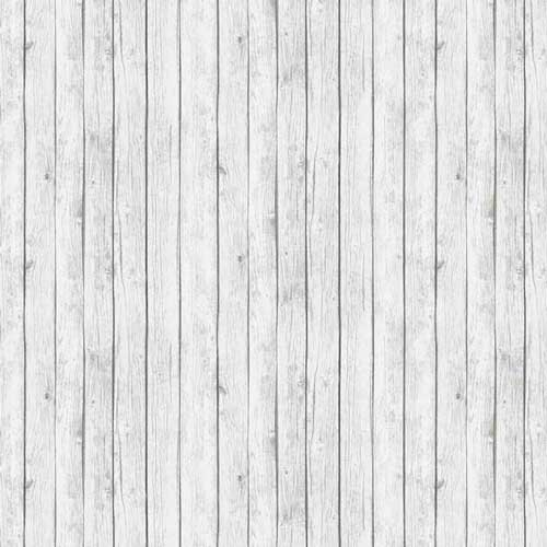 Landscape Medley Rustic White Barn Siding Wood Planks Cotton Fabric