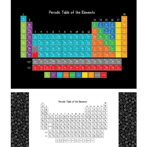 It's Elementary Periodic Table Scientific Elements 30x42 Fabric Panel