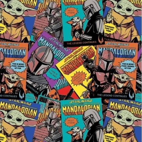 Star Wars The Mandalorian II The Comic Posters Baby Yoda Cotton Fabric