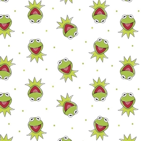 The Muppet Collection Sesame Street Kermit the Frog Cotton Fabric