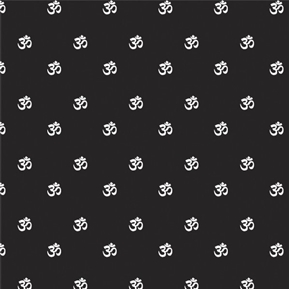 Omstoppable Om Mantra Sacred Sound Namaste Yoga Black Cotton Fabric