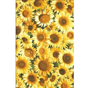 Sunflowers Photo Real Sunflower Patty Reed Yellow Flower Cotton Fabric