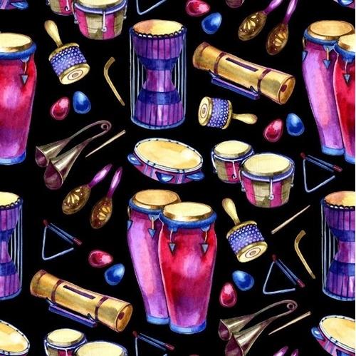 Bongos Percussion Instruments Maracas Drums Music Cotton Fabric