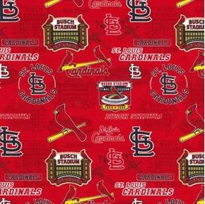 MLB Baseball St Louis Cardinals Busch Stadium 2019 Red Cotton Fabric