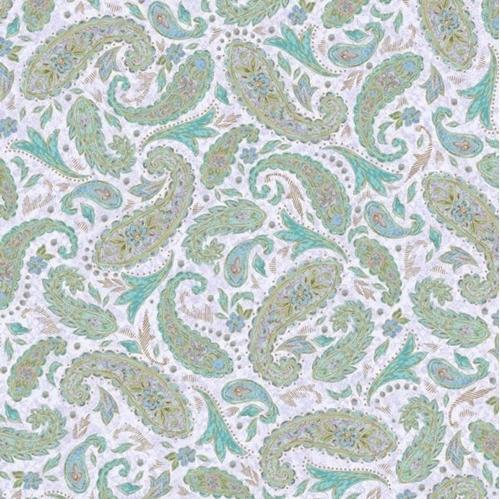 Versailles Paisley Elegant Paisley Pattern Lilac Purple Cotton Fabric