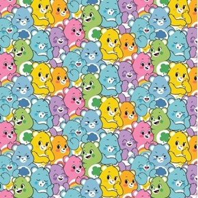 Care Bears Believe Believers Sparkle Sunshine Grumpy Cotton Fabric