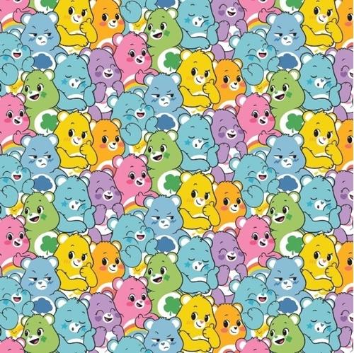Care Bears Believe Believers Sparkle Sunshine Grumpy Cotton Fabric