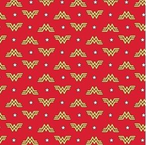 DC Comics Wonder Woman Logos Superhero 1984 Collection Cotton Fabric