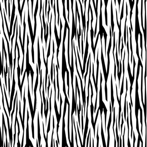 Tiger Tales Tiger Skin Black and White Animal Pattern Cotton Fabric