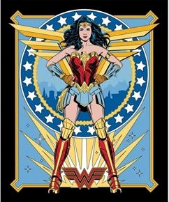 DC Comics Wonder Woman Powerful 1984 Collection Cotton Fabric Panel