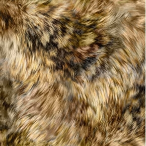 Majestic Wolves Wolf Fur Brown Wild Animal Digital Cotton Fabric