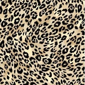 Isabella Animal Skin Leopard or Cheetah Fur Cream Cotton Fabric