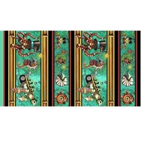 Aquatic Steampunkery Steampunk Character Stripe Cotton Fabric