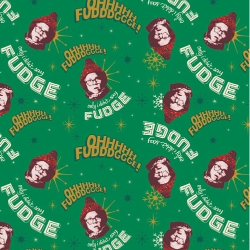Character Holiday A Christmas Story Movie Oh Fudge Ralphie Cotton Fabric