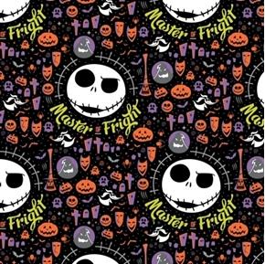 Halloween Character II Frightful Halloween Nightmare Jack Cotton Fabric