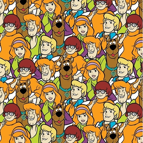 Scooby Doo and the Gang Hanna-Barbera Character Packed Cotton Fabric