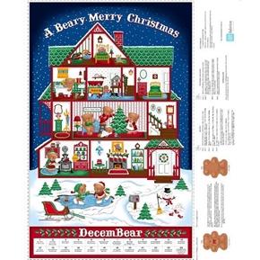 Sew N Go VIII Merry Berry Advent Calendar Large Cotton Fabric Panel