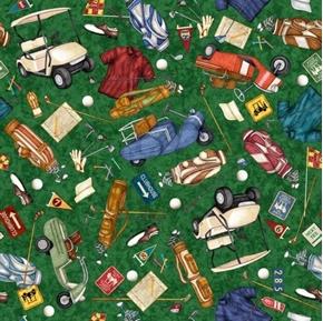 Chip Shot Golf Toss Golfing Equipment Carts Bags Green Cotton Fabric
