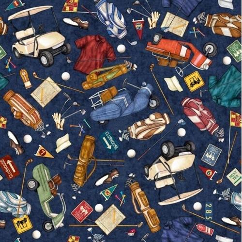 Chip Shot Golf Toss Golfing Equipment Carts Bags Navy Cotton Fabric