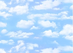 Landscape Medley Light Blue Sky with Smaller White Clouds Cotton Fabric