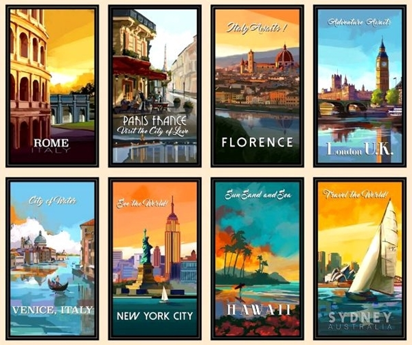 Picture for category Travel Destinations Fabric Panels