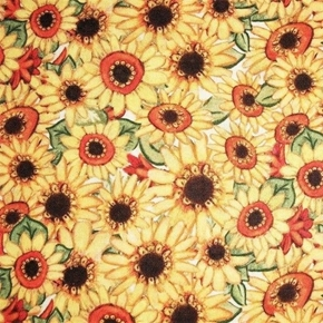 Harvest Sunflowers Yellow Susan Winget Holiday Cotton Fabric